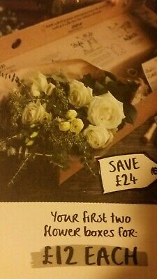 2 Boxes Freddie's Flowers £12 each (50% off) voucher coupon code Get Well Soon