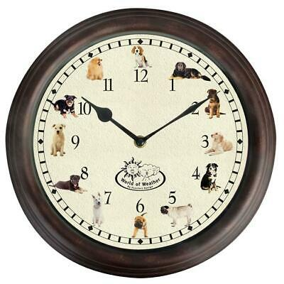 Dog Barking Sound Chiming Wall Clock Labrador Collie Beagle and More