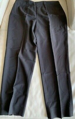 Grace Elements Size 14 Brown Straight Leg Flat Front Stretch Career Pants