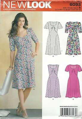 NEW LOOK SEWING PATTERN 6207 MISSES SZ 6-16 LOOSE-FITTING SWING DRESS /& MAXI