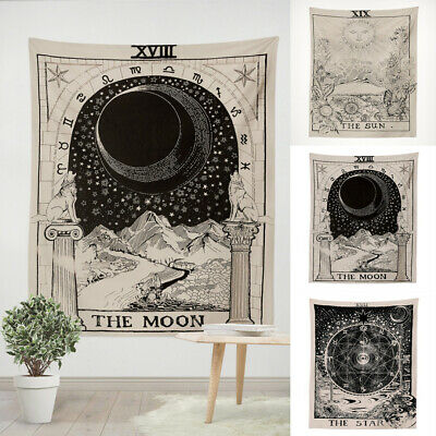 Moon Sun Magical Tarot Tapestry Wall Hanging Bedspread Large Blanket Cover 150CM