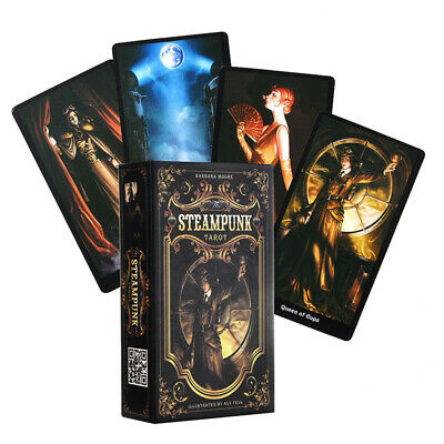 78PCS Steampunk Tarot Cards Deck Fantasy Gothic Tarot Cards English Version AU