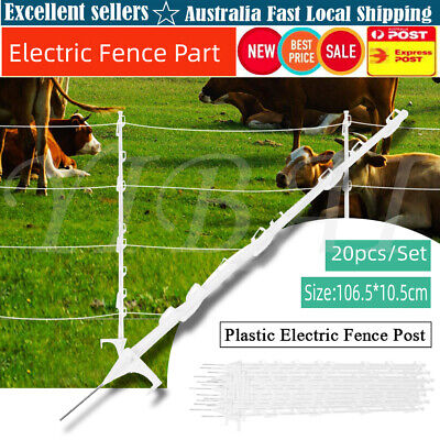 20Pcs Strip Graze Poly Tread In Posts Wire Tape Electric Fence Post Fencing