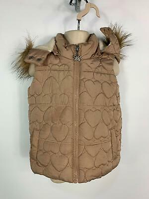 Girls Sweet Millie Light Brown Padded Winter Gilet Body Warmer Kids Age 3 Years