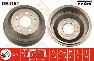 Single Rear Brake Drum Citroen Relay Fiat Ducato Peuget Boxer 2.2 2.5 2.8 86-07