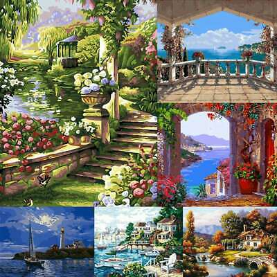 DIY Oil Painting Art Paint Canva by Number Kits Paint Home Wall Hanging Decor