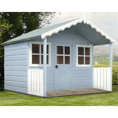 6x4 Wooden Tongue and Groove Apex Playhouse with Single Door & 2 Opening Windows