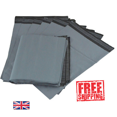 """Strong Grey Mailing Post Mail Postal Bags Poly Postage Self Seal 10/"""" x 14/"""" Bag"""