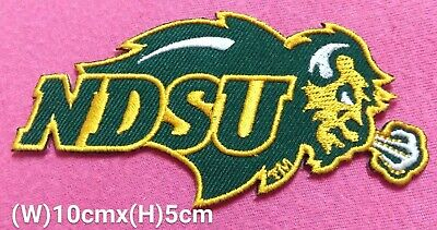 "/""ND/"" NORTH DAKOTA  STATE SHAPE Iron On Embroidered Applique Patch"