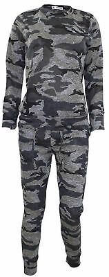 Camouflage Print Girls 2-Piece Lounge Wear Tracksuit Jogging Bottoms Top 9-10 yr