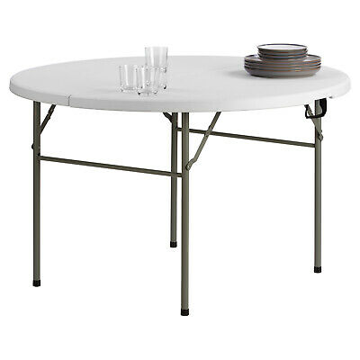 Hartleys Round 4ft Folding Dining Table Outdoor Garden Patio BBQ Drinks Serving