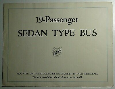 Studebaker 1926 Brochure -  19 Passenger Sedan Type Bus