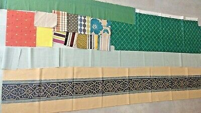 Soft Furnishing Fabric Remnants Offcuts BUNDLE Material LOT Mixed Craft Sewing