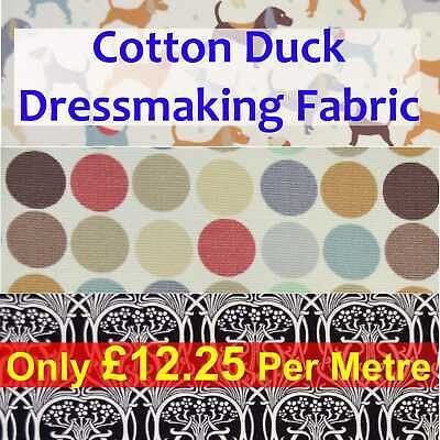 Cotton Duck/Canvas Crafting Fabric in Three Themes/Multiple Colours