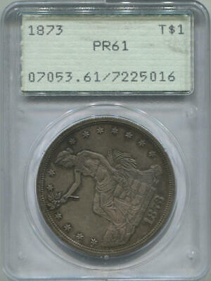 1873 Proof Trade Dollar, T$1. PCGS PR61. Old Rattler