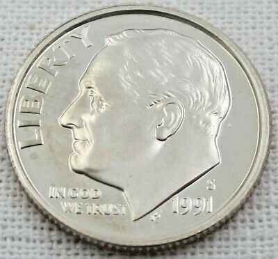 1991-S Roosevelt Dime Gem Proof FREE SHIPPING!