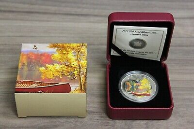2013 $20 Canada Fine Silver Coin Autumn Bliss