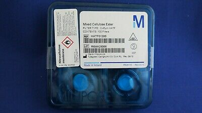 Pack 100 Millipore Mixed Cellulose Ester HATF Filters 0.45um HATF01300