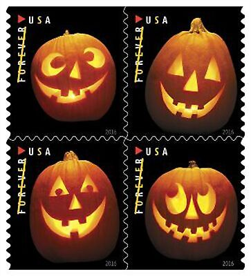 Jack o Lanterns USPS Forever First Class Postage Stamps Scott 5140b