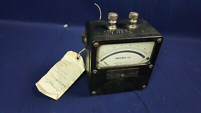Vintage Weston Zero Corrector Model 433, 0-5 Amperes AC Ammeter 3-Day Refund