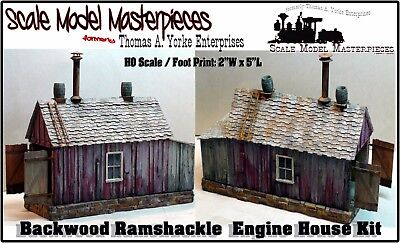 Scale Model Masterpieces//Yorke Logging Camp Portable Bunk House Kits HO