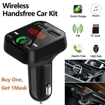 Bluetooth Wireless In-Car FM Transmitter MP3 Radio Adapter Car Dual USB Charger