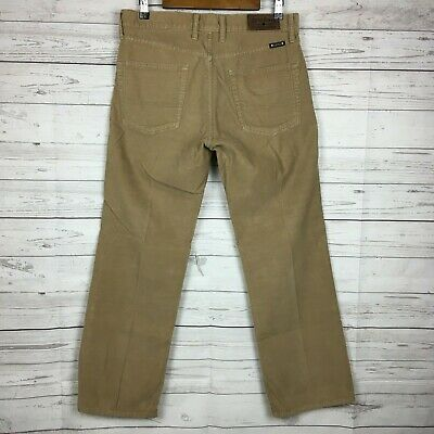 Lucky Brand Mens 361 Vintage Straight Brown Corduroy Cords Pants Trousers 32×30