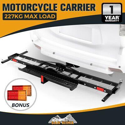 "【15% OFF】SAN HIMA Motorcycle Carrier Motorbike Rack Dirt Bike 2"" Ramp w/ Brake"