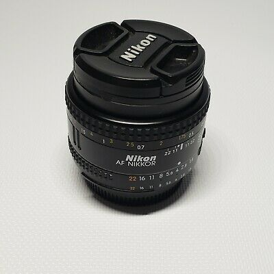 Nikon AF NIKKOR 50mm 1:1.8 camera lens SLR photography