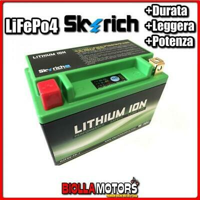 HJTX9-FP BATTERIA LITIO SKYRICH YTX9-BS LiFePo4 - YTX9BS MOTO SCOOTER QUAD CROSS