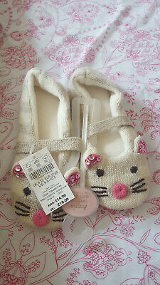 Girls Monsoon Slippers Sparkly Cute Mouse BNWT