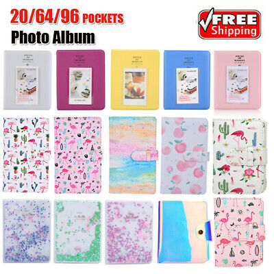 "20/64/96 Pockets 3"" Photo Album Memory Memo Case for Fujifilm Instax Mini Camera"