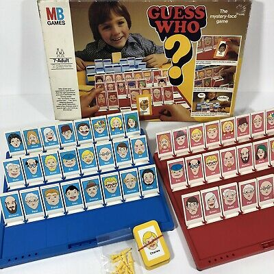 GUESS WHO Vintage Classic Board Game 1979 Edition Retro MB Games Milton Bradley