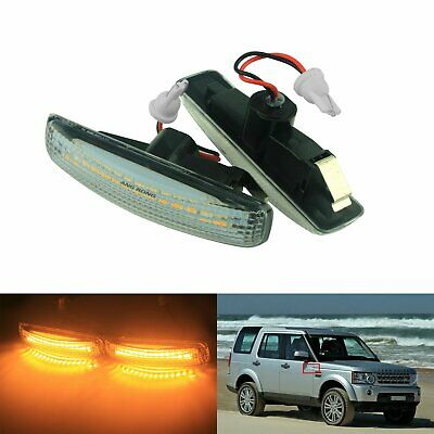 2x Land Rover Discovery 3/&4 White LED Side Indicator Marker Repeater Light 04-11