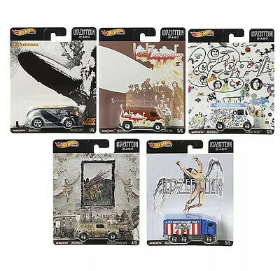 Hot Wheels 2020 Pop Culture Led - Zeppelin Complete 5 Car Set Free Same Day Ship