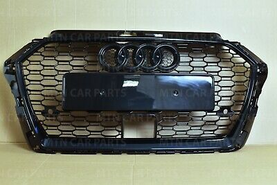 A3 S3 Front Bumper Grill With Acc Fit Audi A3 2017-2018 Rs3 Style Gloss Black