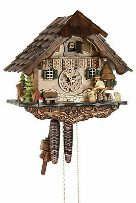 Holzhacker 27cm- Cuckoo Clock Original Black Forest Real Wood Mechanical