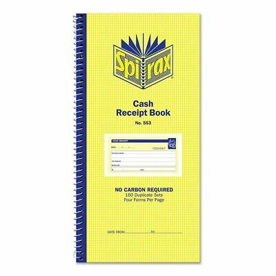 Spirax 553 Cash Receipt Book 4 To View Carbonless Duplicates