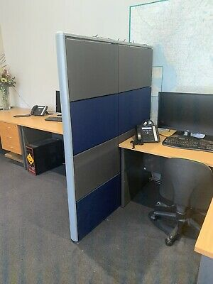 OFFICE BLUE & Green ROOM DIVIDER / PARTITION Around 20 Of Them
