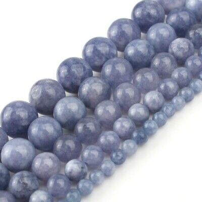"""New Arrival! Natural Stone Angelite Loose Spacer Beads 6 8 10 12mm Strand 15"""""""
