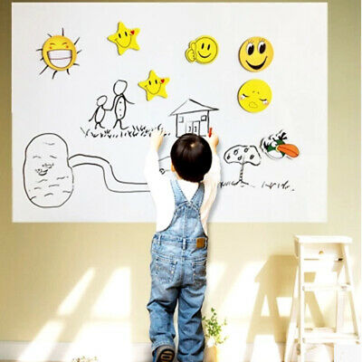 200*45cm DRY WIPE Removable Whiteboard Vinyl Wall Sticker Office Home Marker US