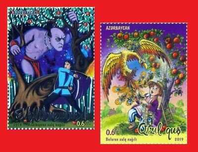 AZERBAIJAN BELARUS JOINT ISSUE. FAIRY TALES 2019 Set of 2 stamps