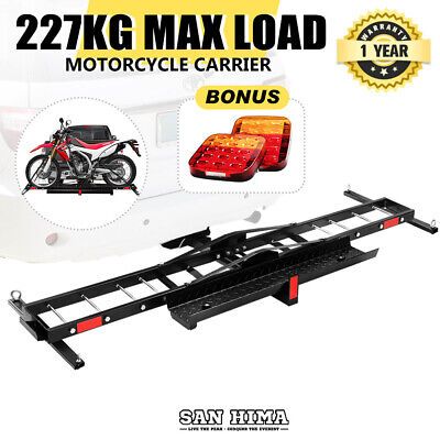 "【15% OFF】SAN HIMA Motorcycle Carrier Motorbike Rack Ramp Dirt Bike 2"" Towbar"