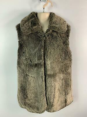 Girls Marks&Spencer Brown Faux Fur Gilet Body Warmer Coat Kids Age 13/14 Years