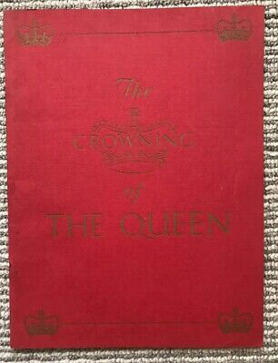 """QEII coronation """"The Crowning Of The Queen"""" -Stephen King-Hall-1953-soft back"""