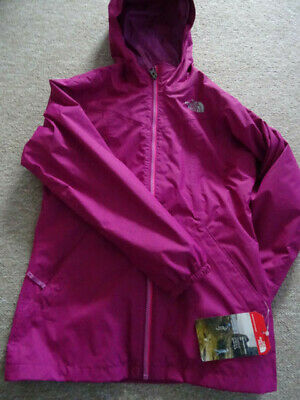 The North Face girls Elana Rain TRIC hooded jacket coat Age 10-12 years NEW+TAGS