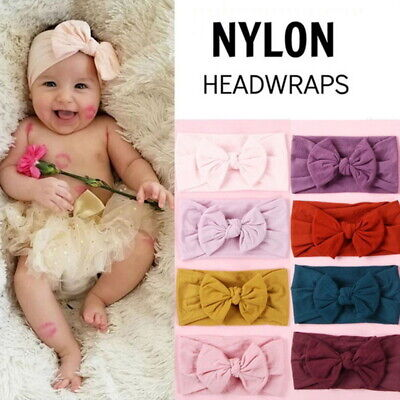 Baby Infant Hair Accessories Soft Nylon Bow-knot Unseen Elastic Hair Accessory