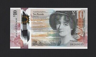 Prefix AA Royal Bank of Scotland UNC Banknote Scotland 10 Pounds p-371 2016