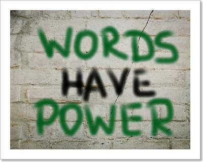Words Have Power Concept Art Print Home Decor Wall Art Poster