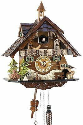 Black Forest House 39cm- Cuckoo Clock Cuckoo Clock Real Wood New Batter